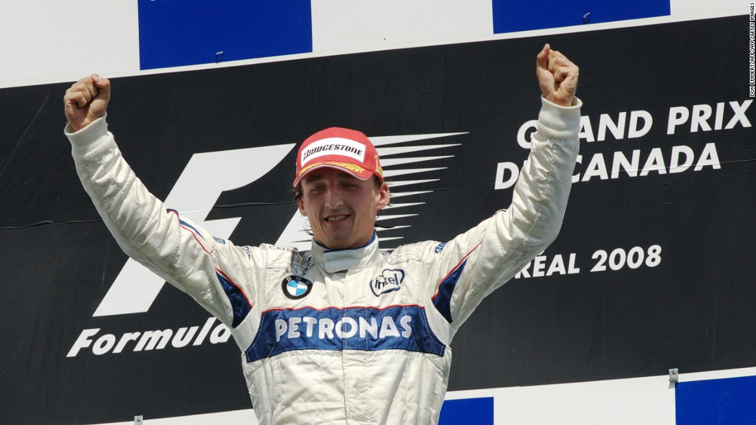 Kubica's greatest triumph in F1 came at the same track and just a year after his 2007 crash, as he claimed victory in the Canadian Grand Prix for BMW Sauber.