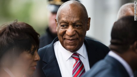 Bill Cosby arrives for his assault trial.