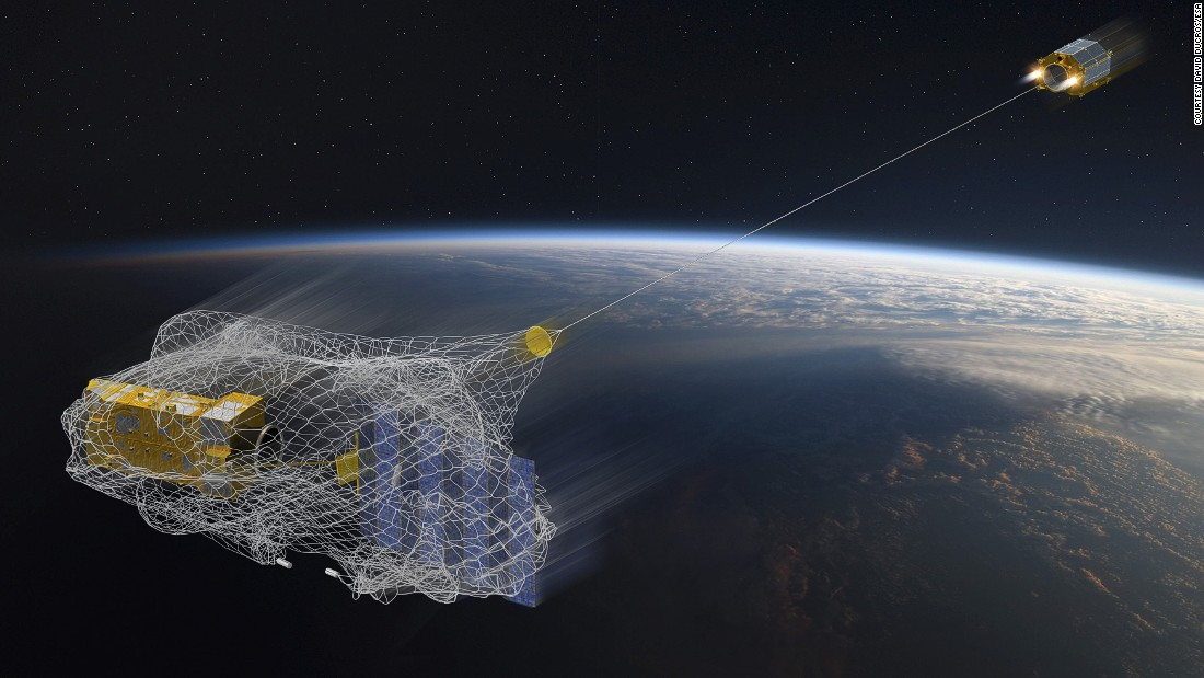 Astroscale's Space Sweepers aren't the only ones looking to develop technology for clearing space junk. The European Space Agency (ESA) is planning a space debris removal mission in 2024. One approach being explored by the ESA is capturing space debris in a net. <br />