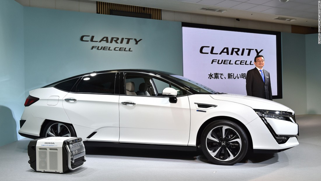 Currently, only three auto manufacturers in the world sell hydrogen-powered cars -- and they're all Japanese. In 2016 Honda launched the world's first commercially available hydrogen powered car -- called Clarity -- for the Japanese market.