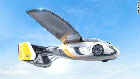 Slovakia-based AeroMobil has rolled out several versions of its flying car prototype ever since the company launched in 2010. The four-wheel vehicle transforms into a VTOL. It's available for pre-order at the end of 2017.