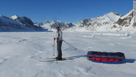 Salameh has trekked to the North and South Poles and has skied from the north to the south of Greenland.