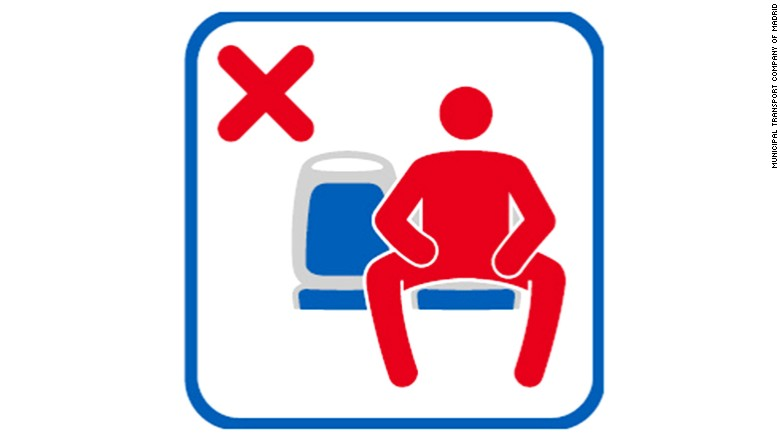 'Manspreading' banned in Madrid