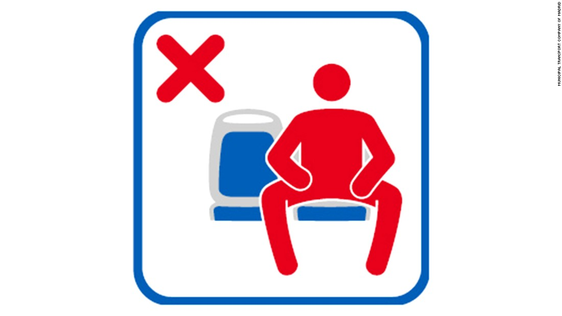 'Manspreading' is now a no-no on Madrid's public buses - CNN