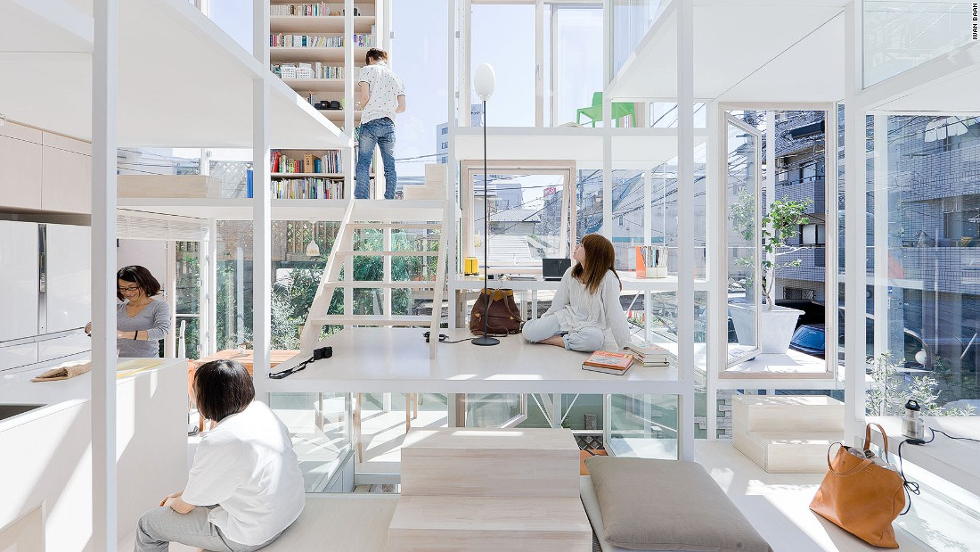Sou Fujimoto breathes nature into his designs. This house in central Tokyo represents a single tree, with many branches.