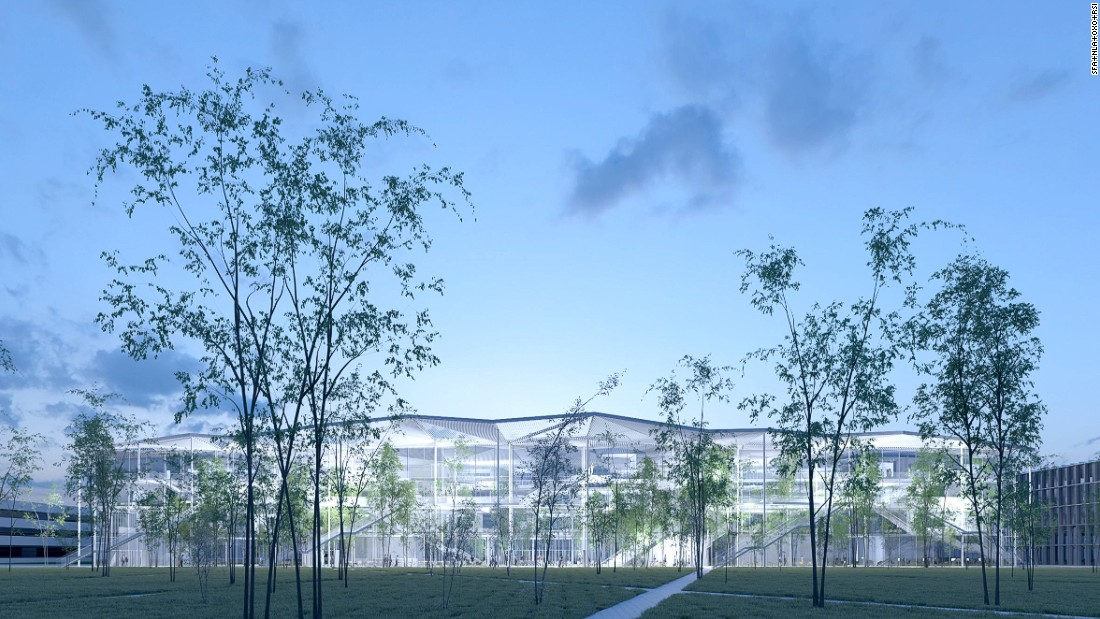Fujimoto's Polytechnique University, which will be built in Paris, lets nature and light invade the building.