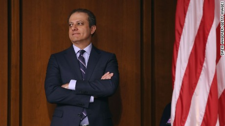 WASHINGTON, DC - JUNE 08:  Former United States Attorney for the Southern District of New York Preet Bharara attends the Senate Intelligence Committee where FBI Director James Comey is sent to testify in the Hart Senate Office Building on Capitol Hill June 8, 2017 in Washington, DC. Comey said that President Donald Trump pressured him to drop the FBI's investigation into former National Security Advisor Michael Flynn and demanded Comey's loyalty during the one-on-one meetings he had with president.  (Photo by Drew Angerer/Getty Images)