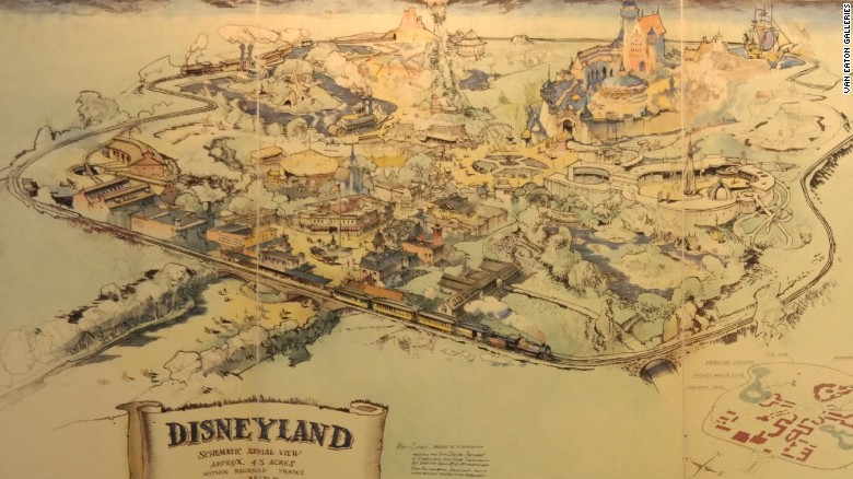 Original Disneyland map set for auction