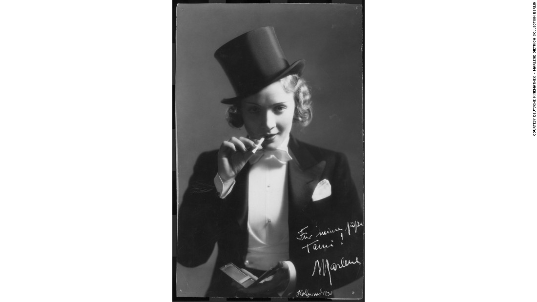 Dietrich was renowned for challenging gender norms through her bold fashion choices on and off-screen.