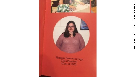 Montana Dobrovich-Fago had requested a quote from Trump be printed under her yearbook photo.
