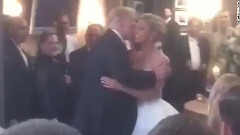 Trump makes a surprise visit to a wedding