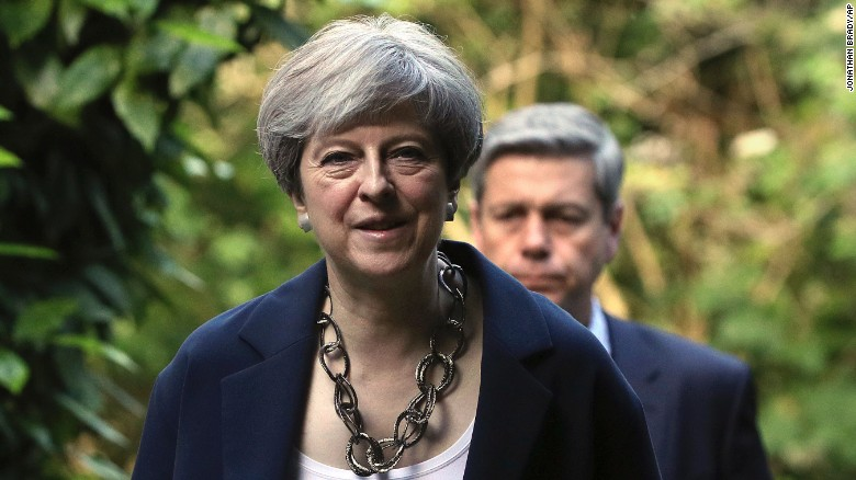 May seeks deal with Northern Ireland's DUP