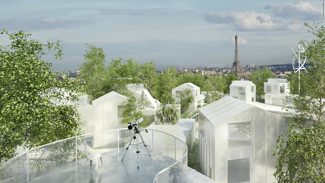 "This project by Sou Fujimoto in collaboration with Manal Rachdi- OXO Architects, called ""Thousand Trees,"" transforms the skyline of Paris with exactly that -- a residential building covered in 1,000 trees, adding a layer of protection against air pollution."