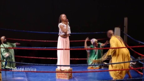 Inside Africa South African artists get a creative workout in a boxing ring B _00002724