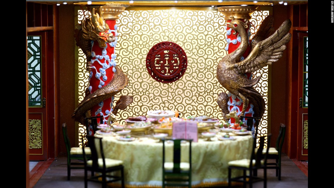 Chan recreates an imperial dinner, blending Han Chinese and Manchurian cultures with meticulous detail.