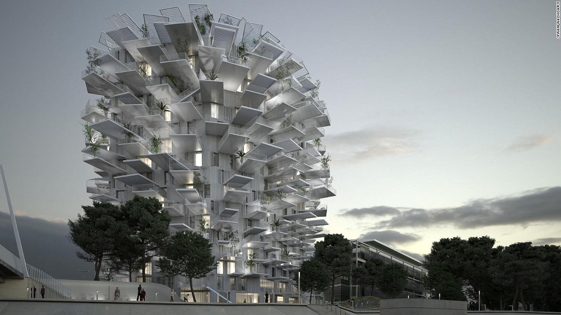"The ""White Tree"" is a multi-purpose tower for living, shopping, office space and an art gallery. Just like a tree, the building will feed off locally available natural resources to save energy. This project is a collaboration between Sou Fujimoto Architects and a number of French architects and agencies, and will be built in Montpelier, France."
