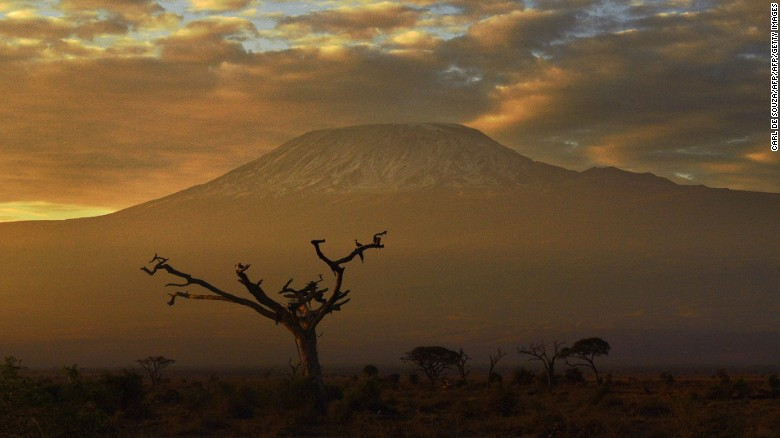 Picture taken on November 3, 2016 at the Amboseli National Park shows the Mount Kilimanjaro. / AFP / CARL DE SOUZA        (Photo credit should read CARL DE SOUZA/AFP/Getty Images)