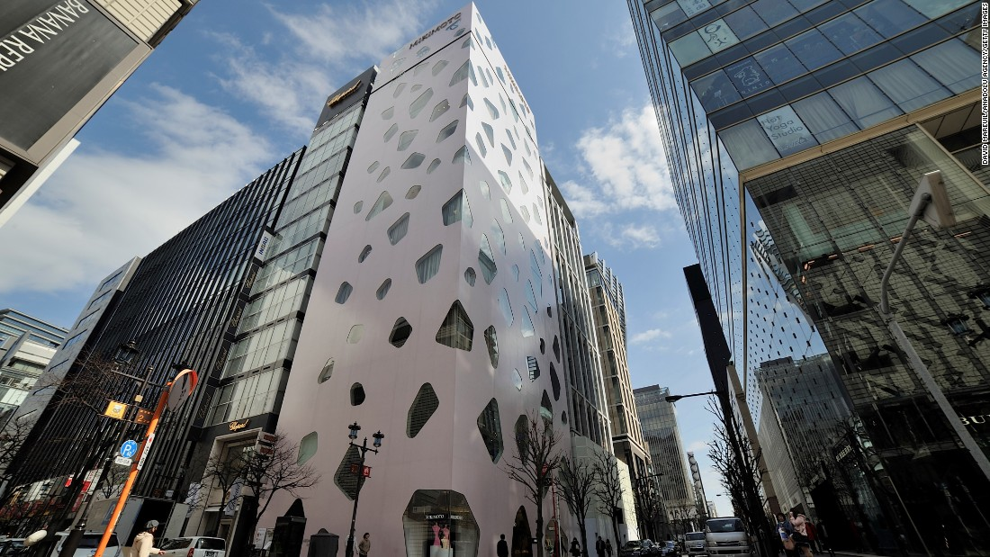 Ito's tree-influenced Mikimoto Ginza building, in Tokyo,.