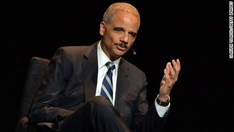 "Eric Holder, former US attorney general attends the 2016 ""Tina Brown Live Media's American Justice Summit"" at Gerald W. Lynch Theatre on January 29, 2016 in New York City.  (Photo by Slaven Vlasic/Getty Images)"