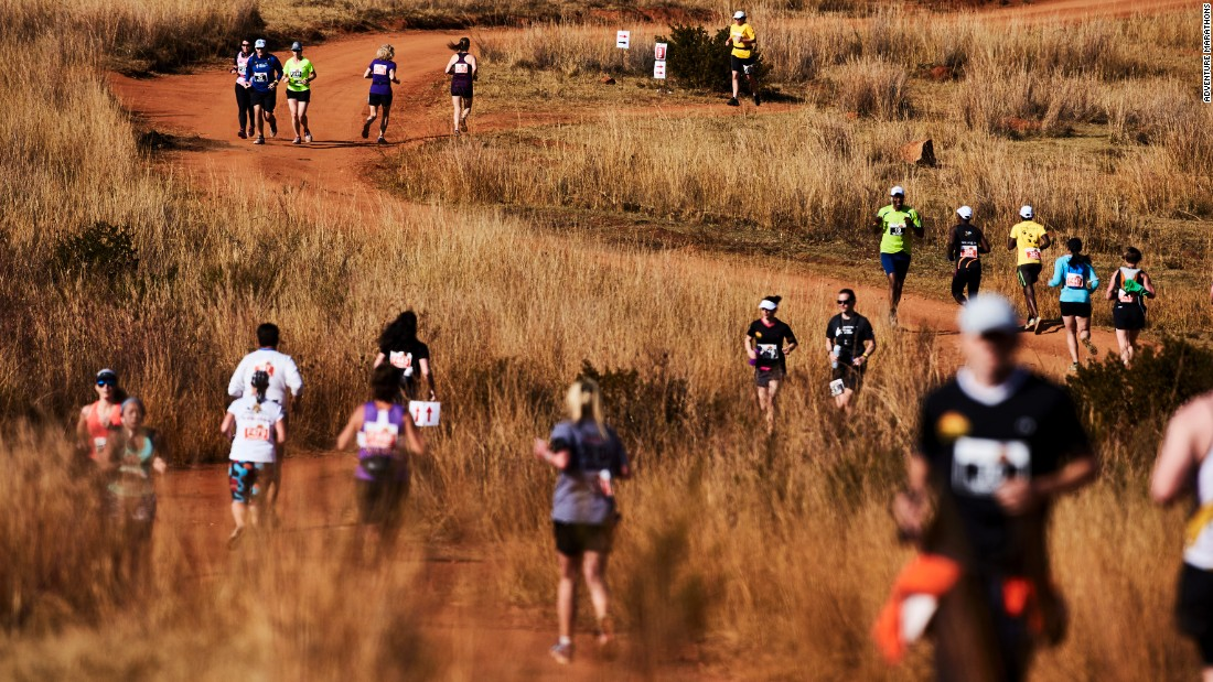 The terrain in the savannah is a tricky mix of sand, pebbles, and loose rocks. It's smaller than the Great Wall Marathon, with a maximum capacity of 275 runners.