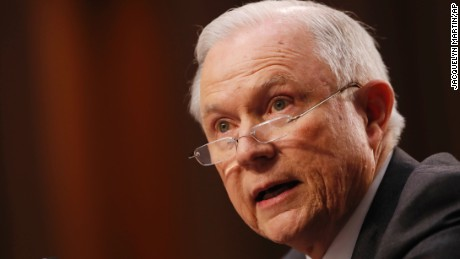 Attorney General Jeff Sessions testifies on Capitol Hill in Washington, Tuesday, June 13, 2017, before the Senate Intelligence Committee hearing about his role in the firing of James Comey, his Russian contacts during the campaign and his decision to recuse from an investigation into possible ties between Moscow and associates of President Donald Trump.