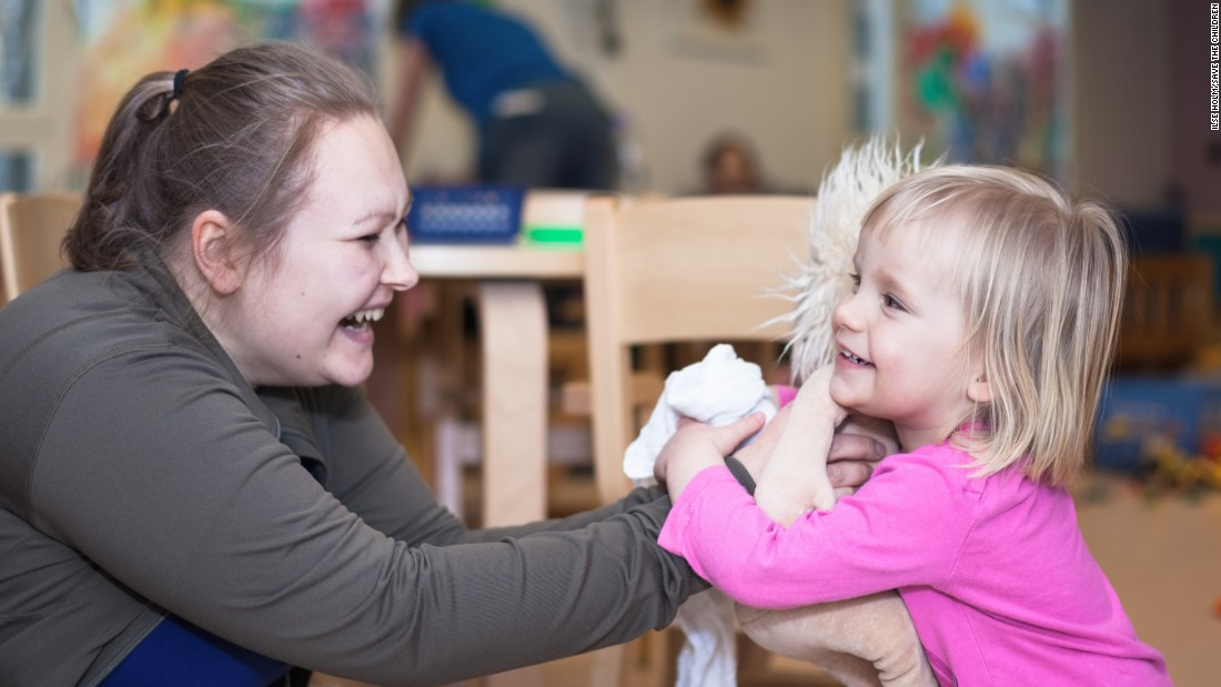 <strong>Finland: </strong>A 2-year-old at her public day care in Helsinki. Only 2% of primary- and secondary-school-age children are out of school in Finland.
