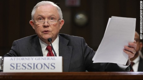 U.S. Attorney General Jeff Sessions testifies before the Senate Intelligence Committee on Capitol Hill June 13, 2017 in Washington, DC. Sessions recused himself from the Russia investigation and he was later discovered to have had contact with the Russian ambassador last year despite testifying to the contrary during his confirmation hearing.