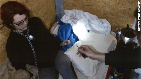 Kidnapping victim Kala Brown was chained and kept in a makeshift bedroom in a shipping container.
