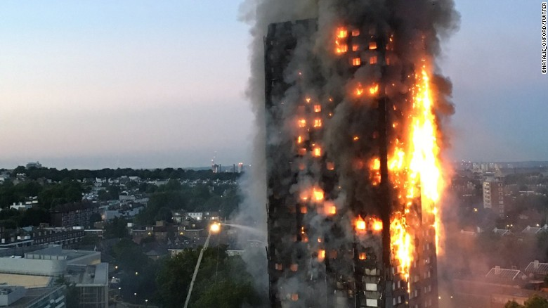 How the West London fire unfolded