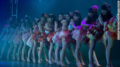 Japanese pop group AKB48 performed at the Lincoln Theater in Washington on March 27, 2012.