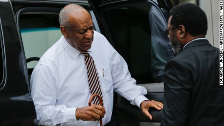 "Actor Bill Cosby arrives at the Montgomery County Courthouse on June 14, 2017 in Norristown, Pennsylvania. The US jury presiding over the Bill Cosby trial will deliberate for a third day after failing to reach a verdict on whether the disgraced cultural icon drugged and sexually assaulted a woman 13 years ago. The 79-year-old legendary entertainer, once loved by millions as ""America's Dad,"" risks being sentenced to spend the rest of his life in prison if convicted on three counts of aggravated indecent assault."