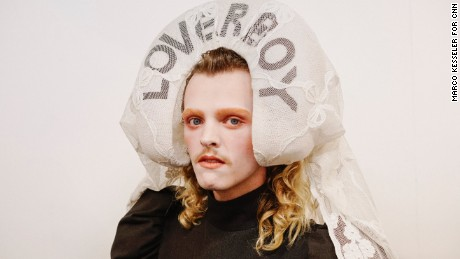 Backstage at Charles Jeffrey LOVERBOY Spring-Summer 2018