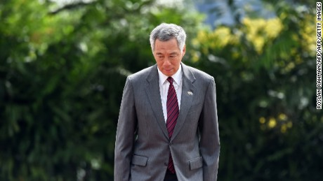 Singaporean prime minister Lee Hsien Loong at an event at the Istana presidential palace in Singapore earlier in June.