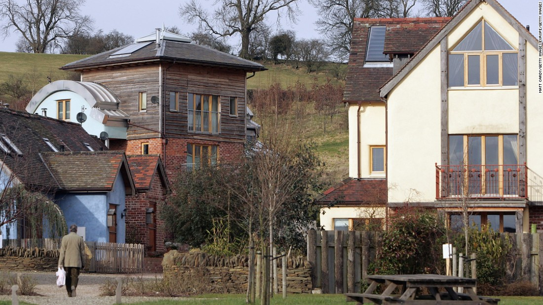 Another example of the push towards carbon-free living is the Wintles Village, United Kingdom, which features houses which are said to be among the most energy efficient in the UK. Domestic dwellings claimed to be responsible for 27% of the UK's carbon emissions.