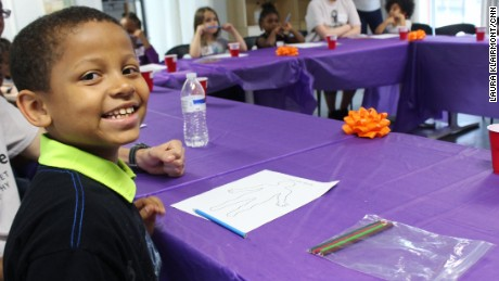 Empower4Life participant Reed, 9, lives in a Baltimore-area shelter with his mother, brother and sister