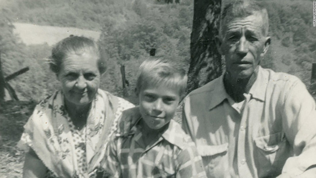 Linro Meade at age 10, pictured with his father, Robert Meade, and stepmother, Julie. His birth mother, Myrtie Meade, died of cancer when Linro was 9.