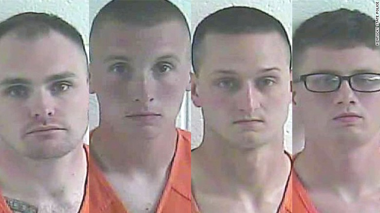From left to right: Anthony Tubolino, Austin Dennis, Jacob Ruth and Tyler Hart.