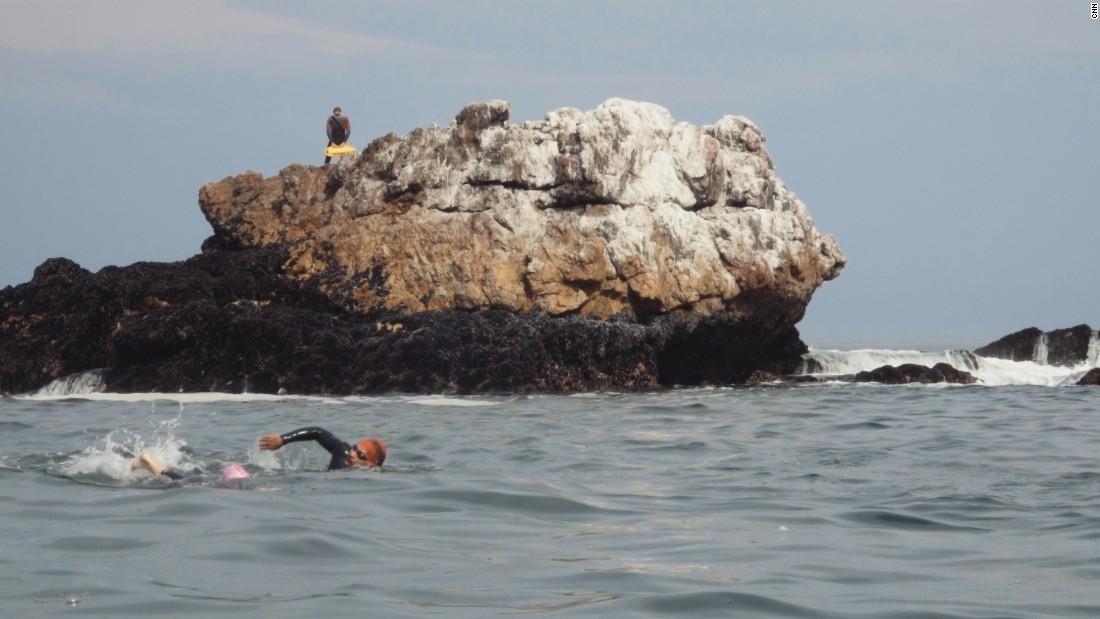 """Hermanus must be one of the most beautiful places in the world to swim,"" said Vicky van der Merwe, one of this year's competitors."