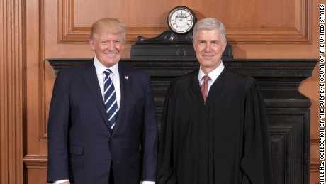 Justice Neil Gorsuch delivering as Trump's promised conservative