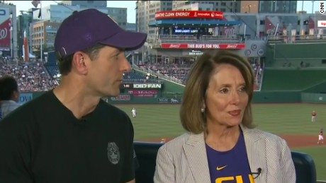 Ryan, Pelosi back 'Team Scalise' at congressional baseball game