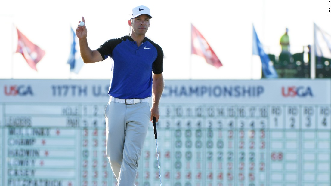 England's Paul Casey birdied the last to get within one of Rickie Fowler after a six-under 66 as shadows lengthened Thursday afternoon.