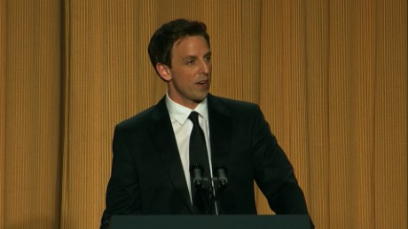 Seth Meyers has a long history with Donald Trump. Seth Meyers discusses his joke about Donald Trump's presidential bid at the 2011 White House Correspondents Dinner and the role of comedians in political satire.