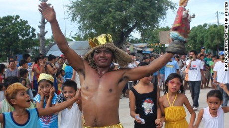 In the Ati-Atihan Festival, the image of Santo Niño (the infant Jesus) is the central figure.