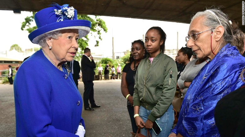 Queen Elizabeth II meets Friday with those affected by the Grenfell Tower fire in west London.