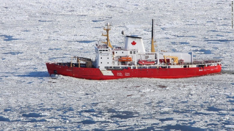 The CCGS Amundsen, a Canadian research icebreaker
