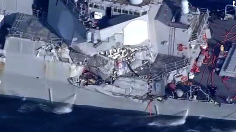 US destroyer collides with Japan ship