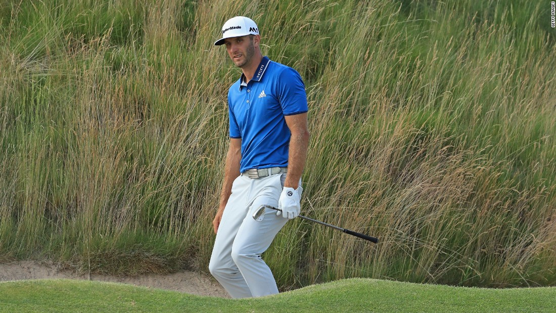 Defending champion and world No. 1 Dustin Johnson was the biggest casualty of the halfway cut in the 117th US Open at Erin Hills.