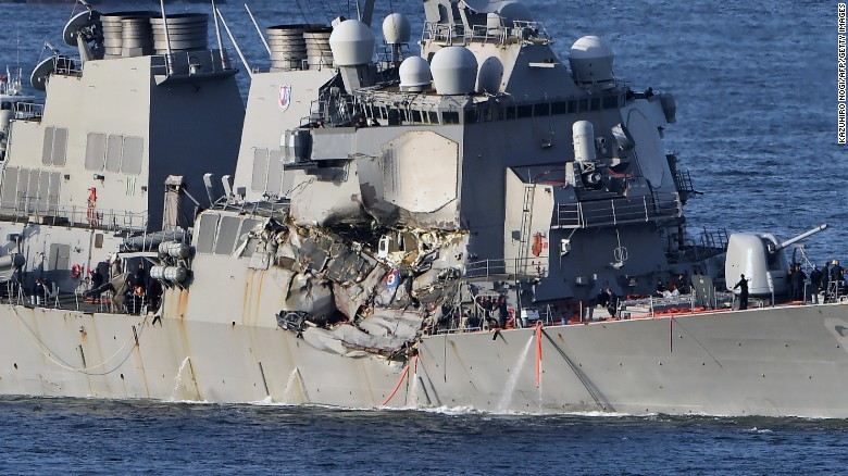 Commander: Ship endured 'significant impact'