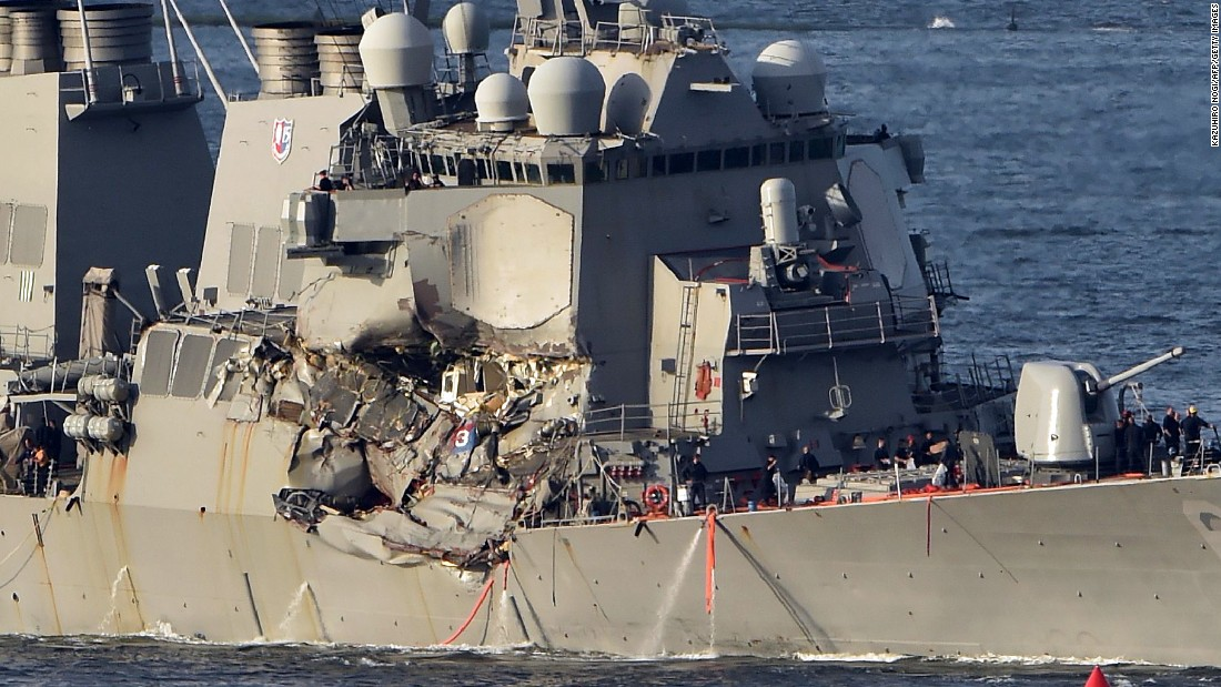 Delay in reporting of deadly US destroyer collision raises questions  (6.67/20)