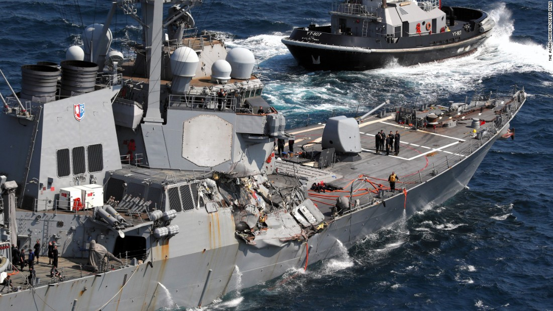 The seven sailors who died in USS Fitzgerald collision